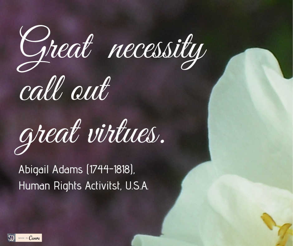 Abigail Adams great virtue