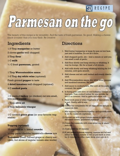 parmesan on the go with photo